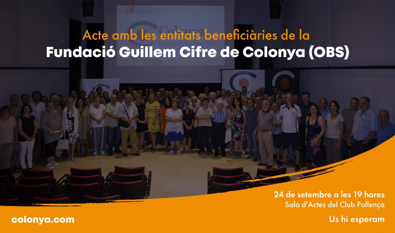 Acte amb les entitats beneficiàries de la Fundació Guillem Cifre de Colonya (OBS)