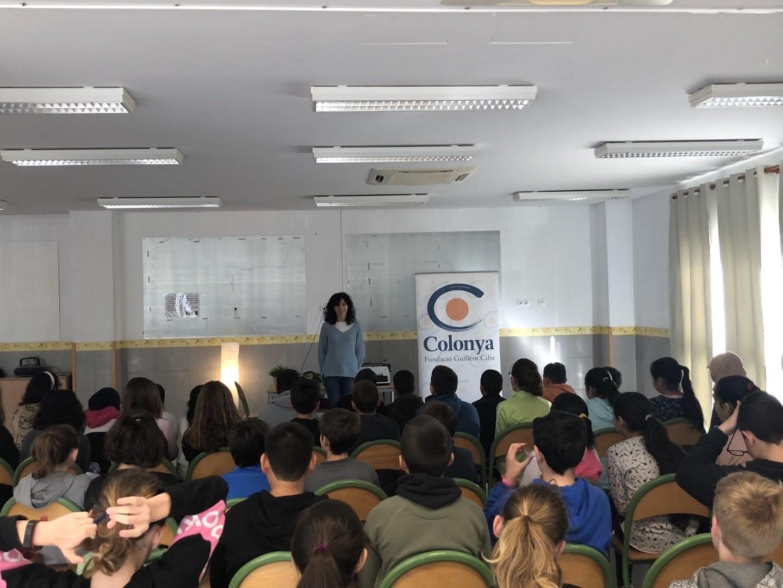 Encuentro Escritora-Escuela, Ruth Tormo visita el CEIP Son Basca de Sa Pobla