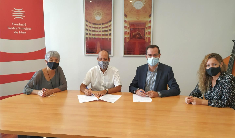 La Fundació Guillem Cifre de Colonya ha signat el Conveni de col·laboració anual amb el Teatre Principal de Maó