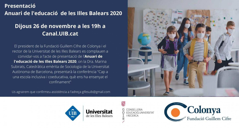 Presentación del Anuario de la educación de las Islas Baleares 2020