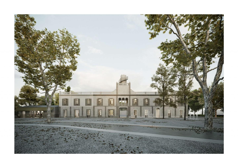 """""""ATLAS"""", dels arquitectes BAAS Jordi Badia i Erik Herrera, avantprojecte guanyador per la construcció de la nova seu de Colonya."""