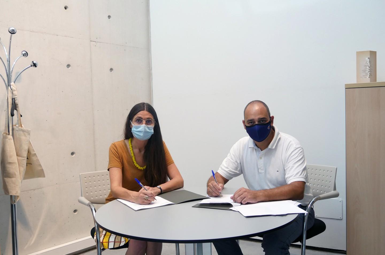 Firma del Convenio anual de Colonya con la Fundación Es Baluard Museu d'Art modern i Contemporani de Palma