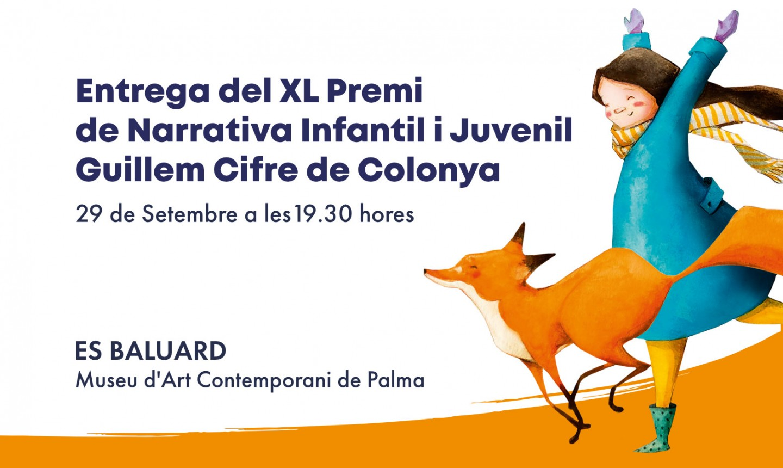 Acto de entrega del XL Premio de Narrativa Infantil y Juvenil Guillem Cifre de Colonya