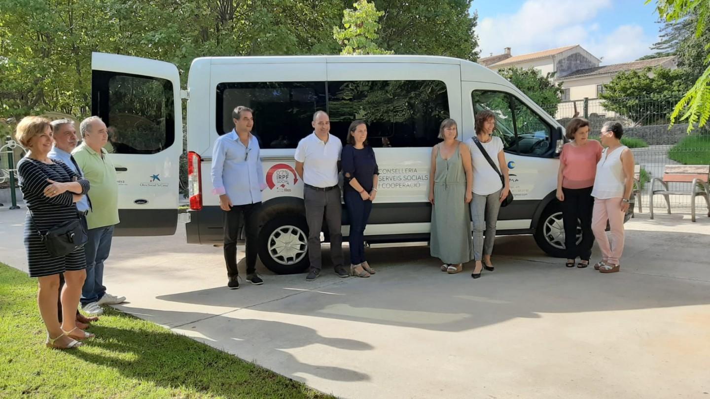 Presentació nova furgoneta d'AFAMA