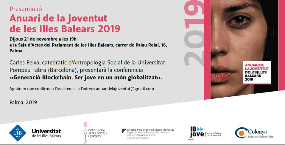 Colonya col·labora en l'edició de l'Anuari de la Joventut de les Illes Balears 2019.