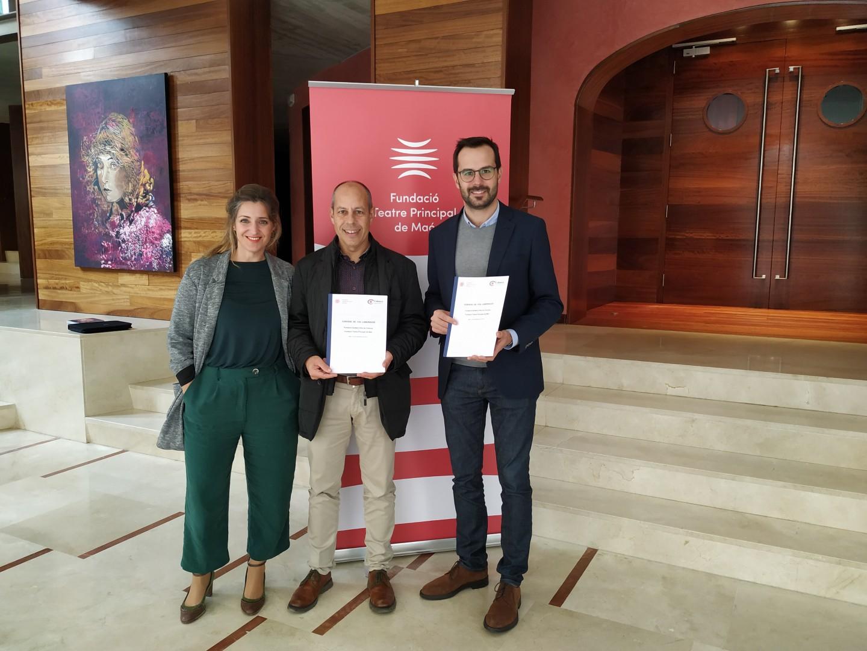 Colonya renova el Conveni de col·laboració amb el Teatre Principal de Maó