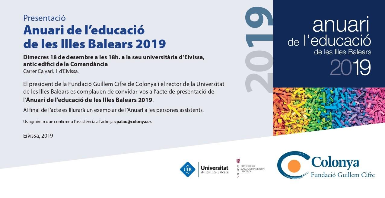 Presentació de l'Anuari de l'Educació de les Illes Balears 2019 a Menorca i a Eivissa