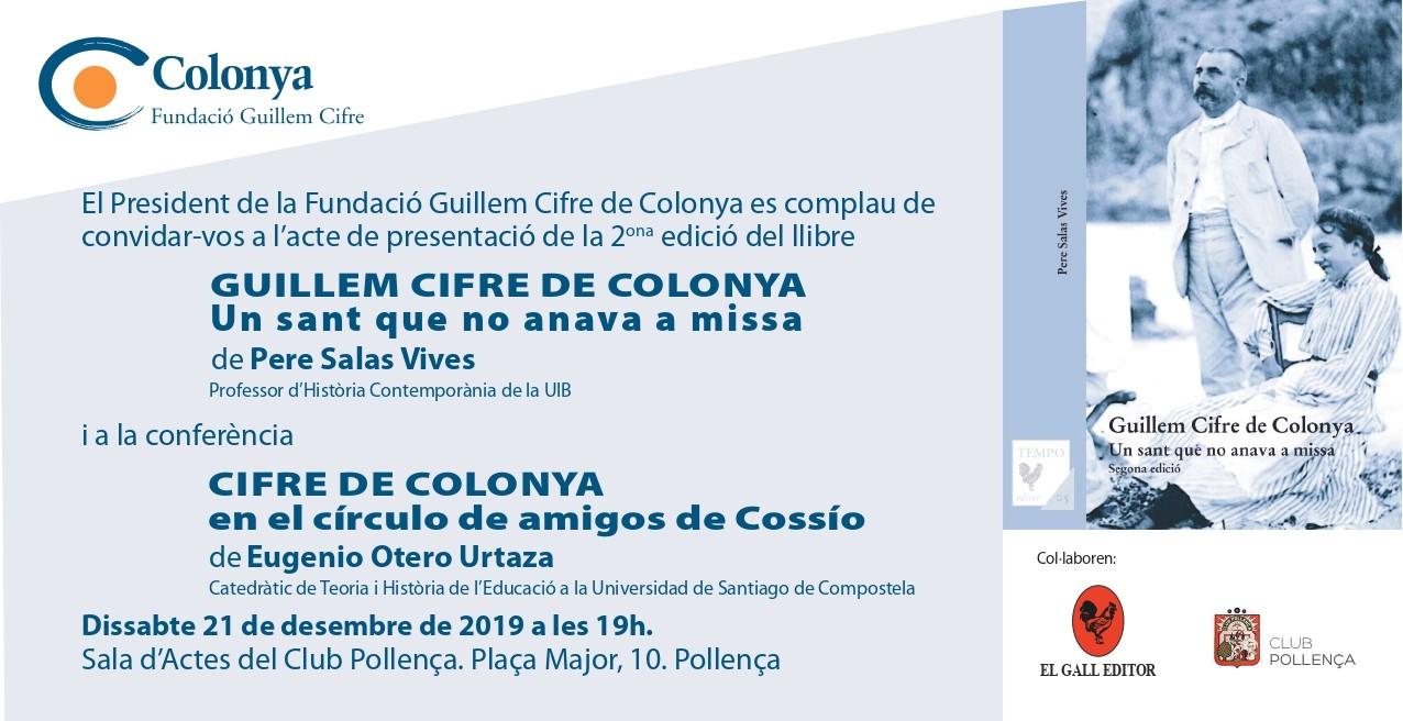 La Fundació Guillem Cifre de Colonya presenta la 2ª edició del llibre