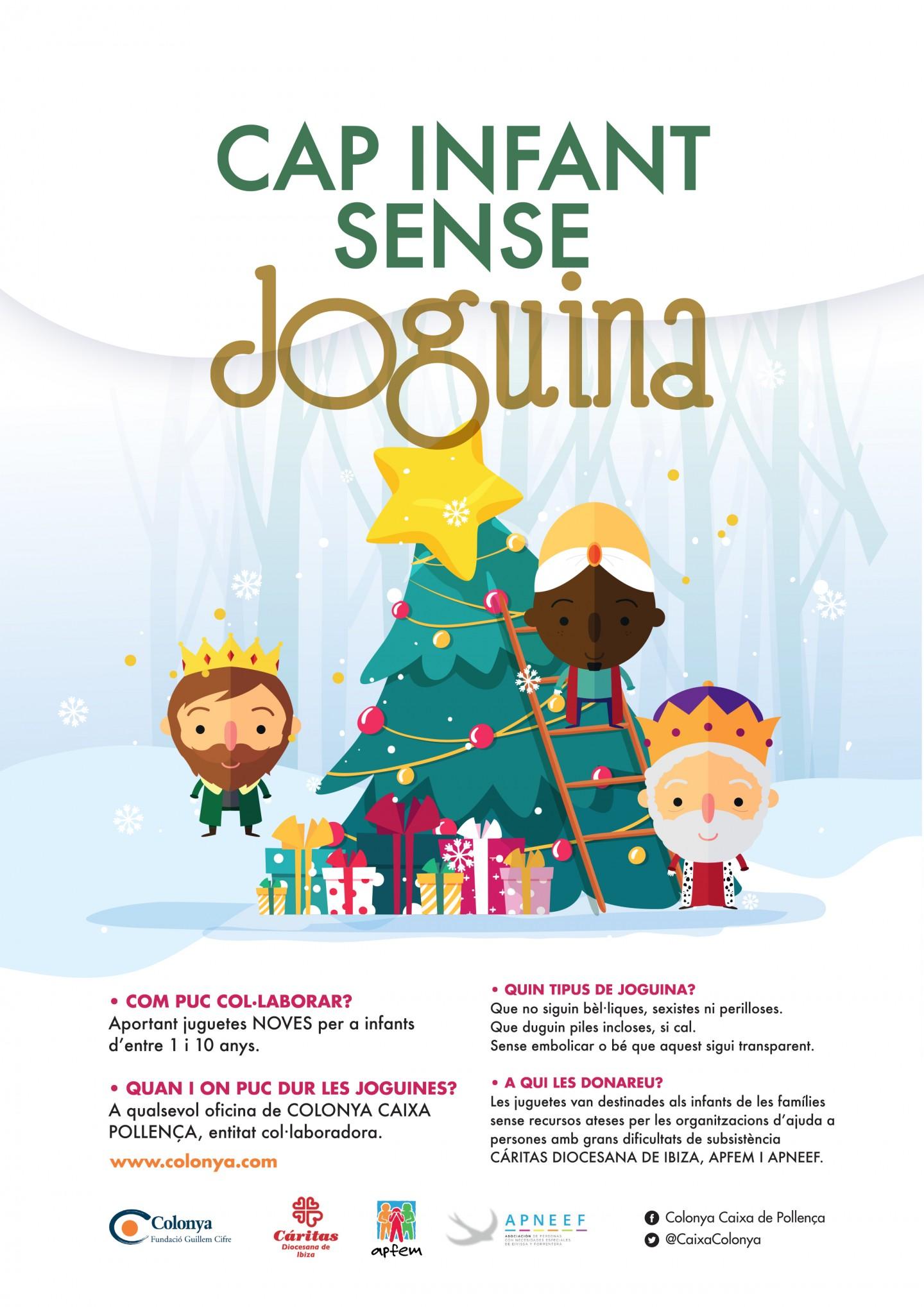 Colonya torna a col·laborar amb la Fundació Montision Solidària en la campanya CAP INFANT SENSE JUGUETA