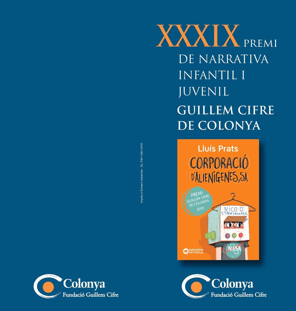 El Premi de Narrativa Infantil i Juvenil Guillem Cifre de Colonya edita les bases per a la seva XXXIX edició